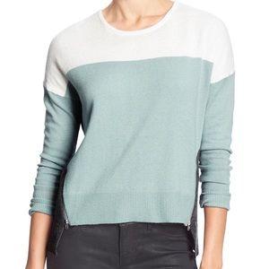Banana Republic Color Block Hi-Lo Zipper Sweater